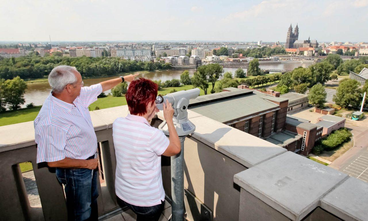 Panorama barrierefrei: Die Aussichtsplattform in Magdeburg